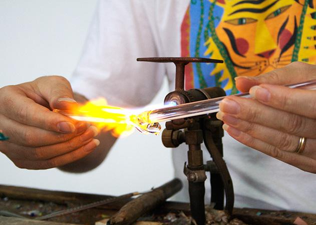 Produzione vetro di Murano