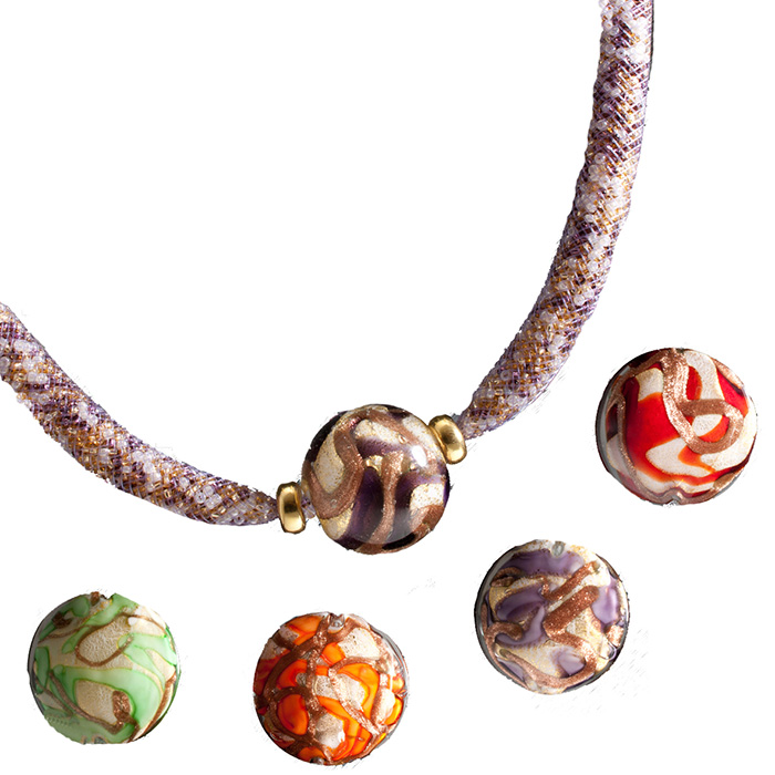 Collane Venetiaurum in vetro di Murano