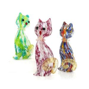 Gatti in vetro di Murano originale