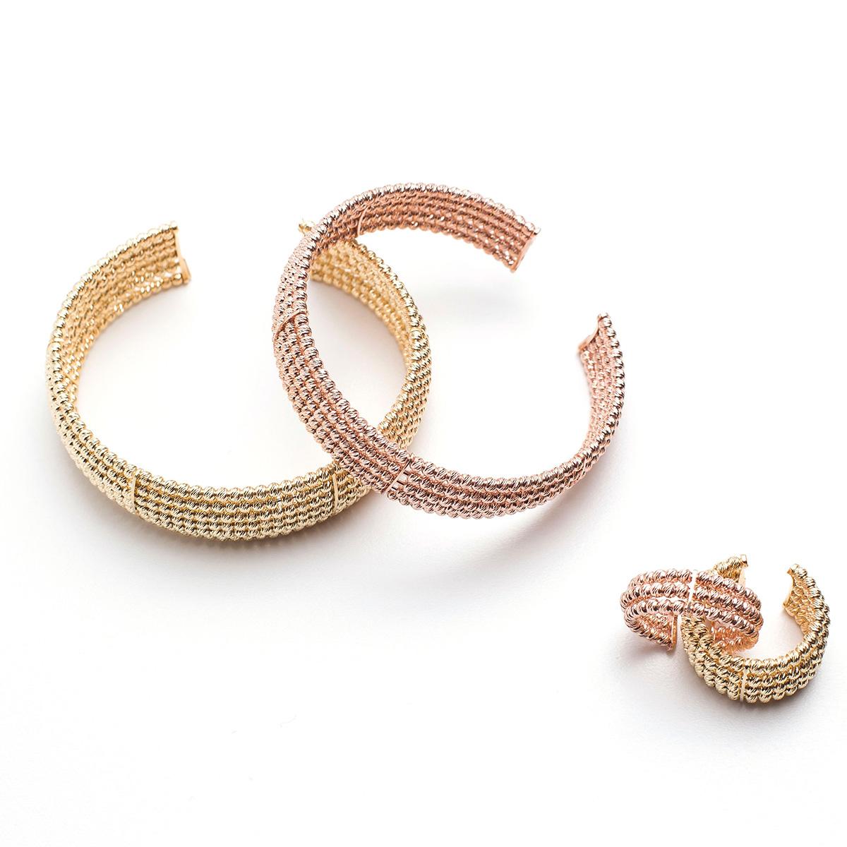 Italian collection braccialetti in bronzo realizzati a Murano